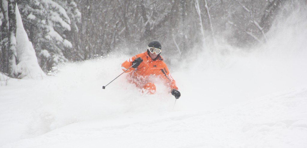 Skiing powder in Yabuli, China