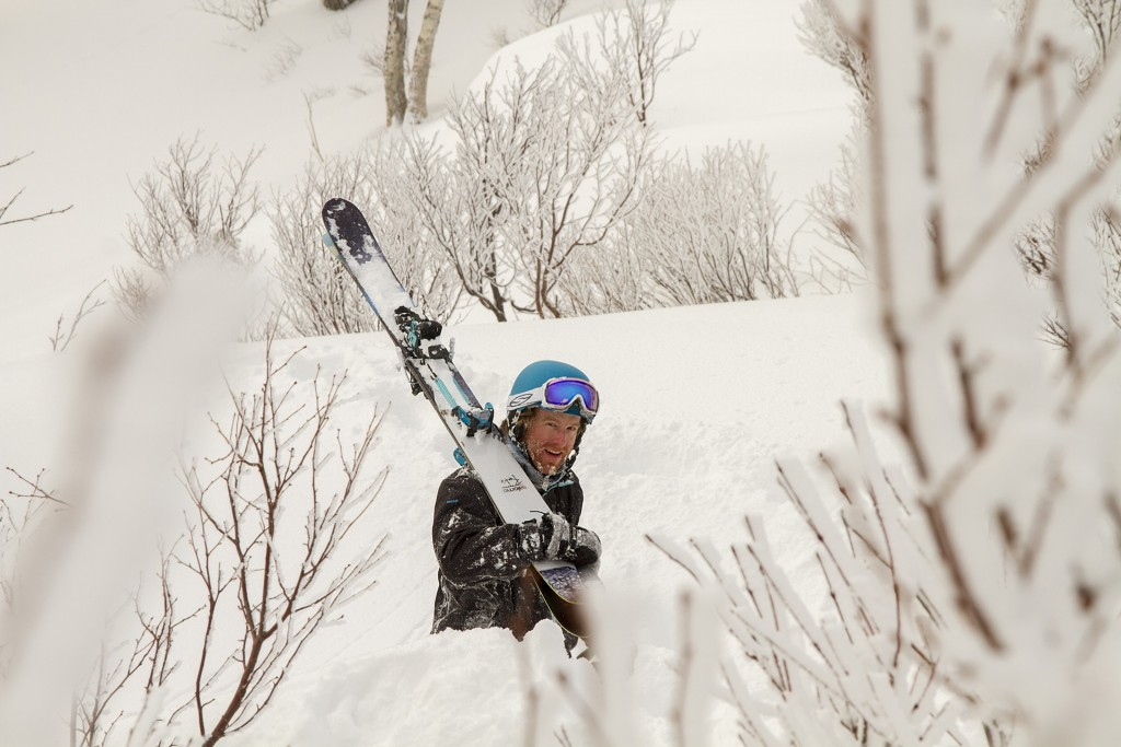 Japanese powder skier