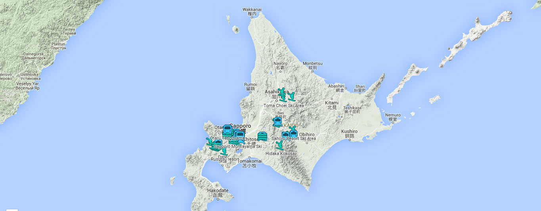 Hokkaido World Map.Find Ski Resorts In Hokkaido With This Interactive Map Ski Asia