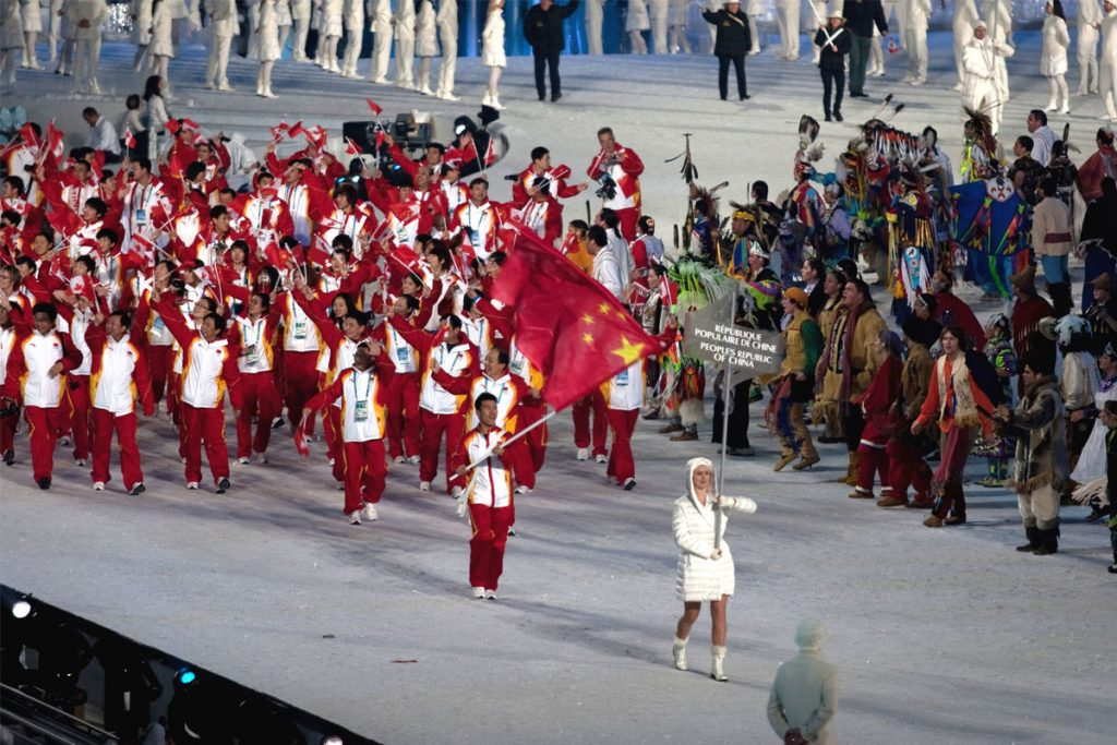 China, Winter Olympics in Vancouver, 2010