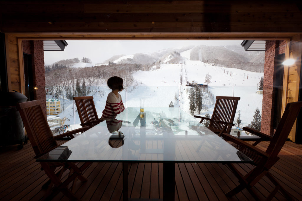 One Happo luxury ski hotel view