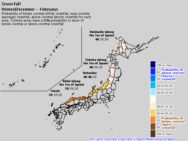 Japanese Weather Bureau Releases Long Term Winter Forecast Ski Asia