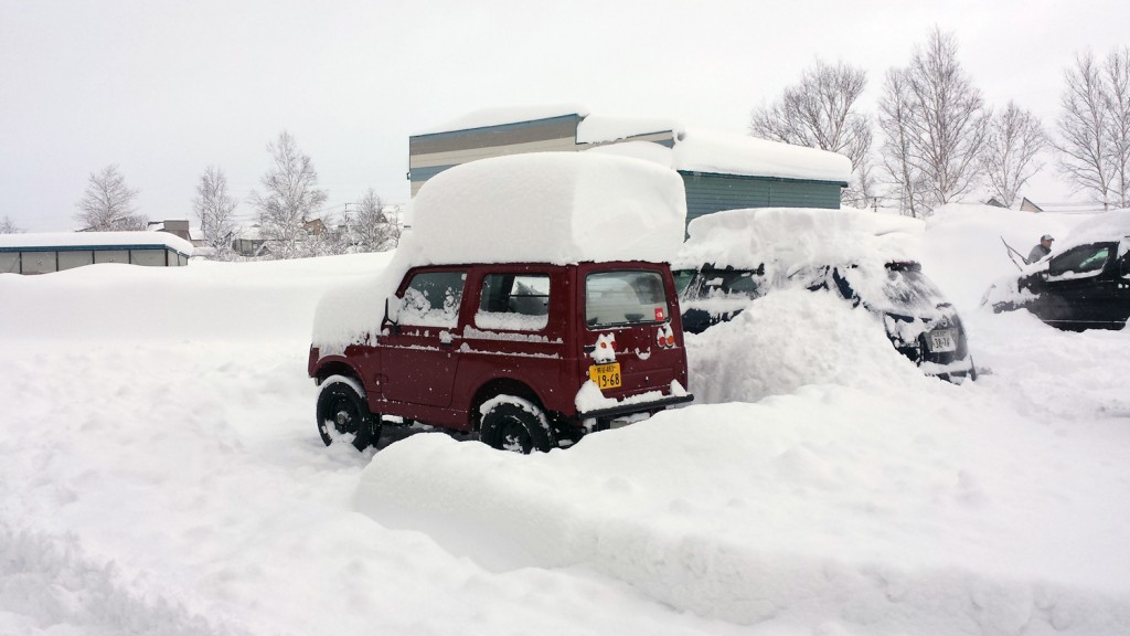 Heavy Niseko snowfall, December 2015