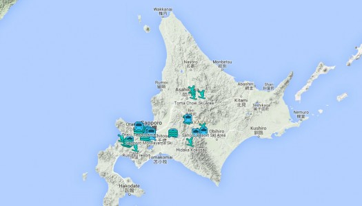 Find ski resorts in Hokkaido with this interactive map