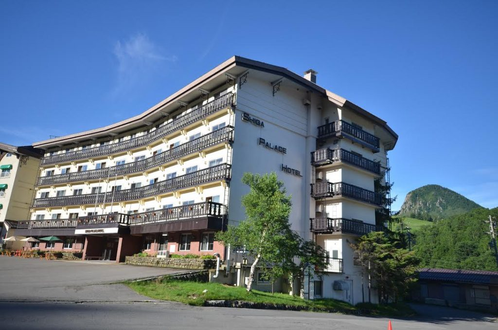 Shiga Palace hotel in summer