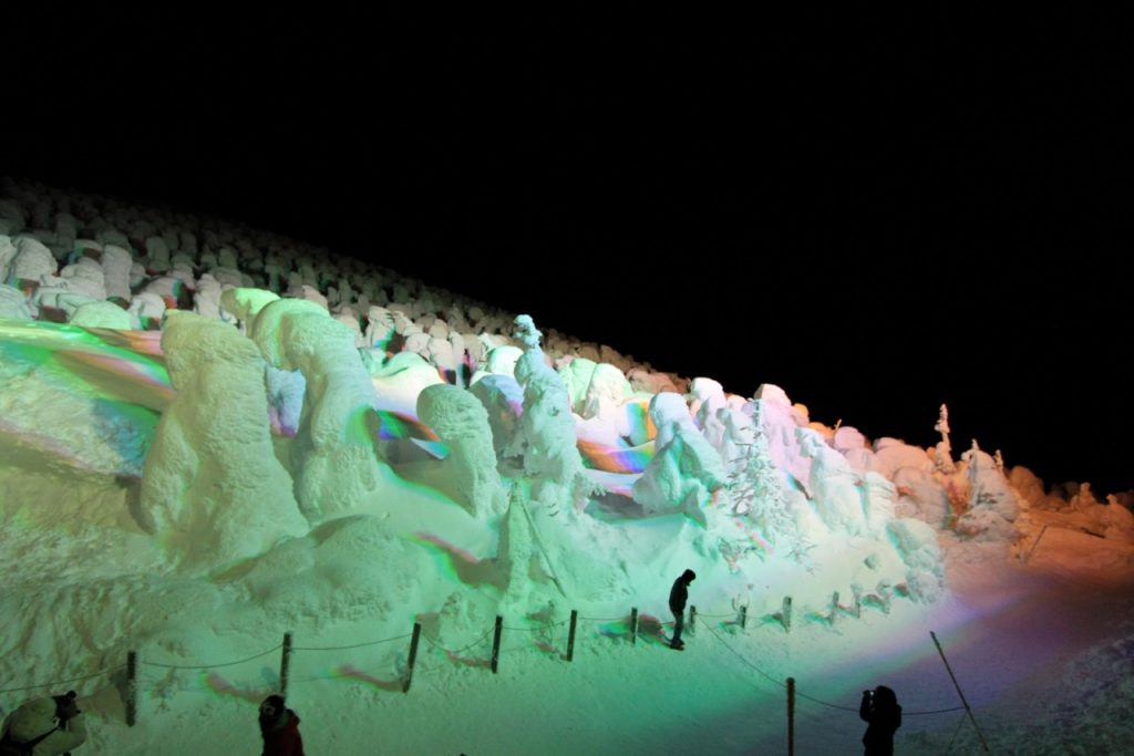 Snow monsters illuminated
