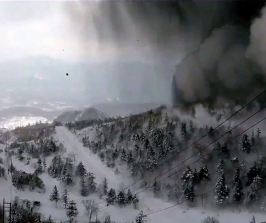 Mount Kusatsu-Shirane erupts