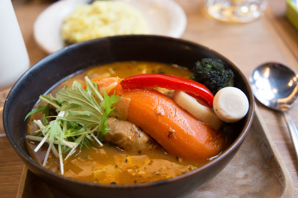 Soup curry in Tomamu, Japan