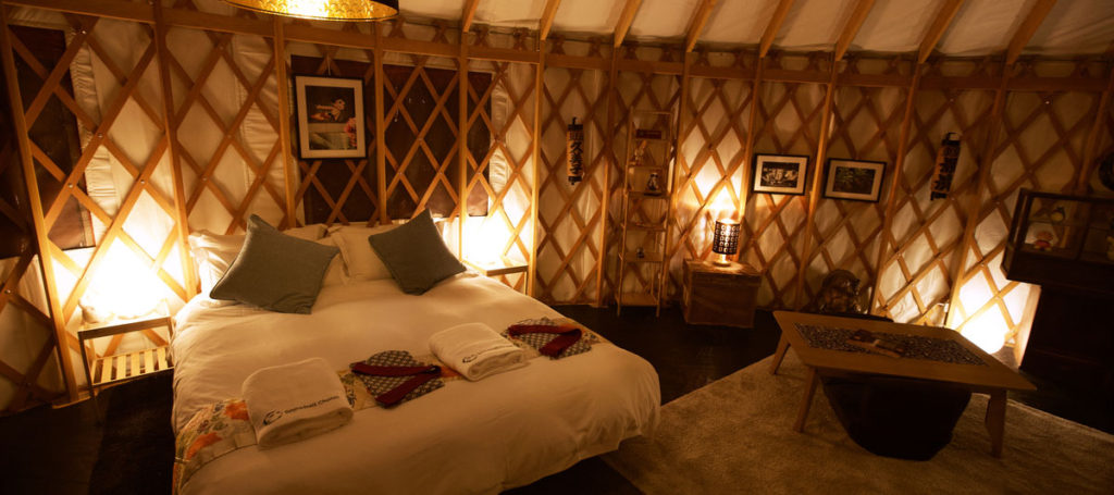 The Snowball Chalet's luxury yurt