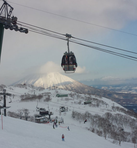 Top of Niseko Village and Annupuri