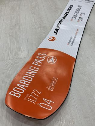 "Japan Airlines ""Boarding Pass"" snowboard"