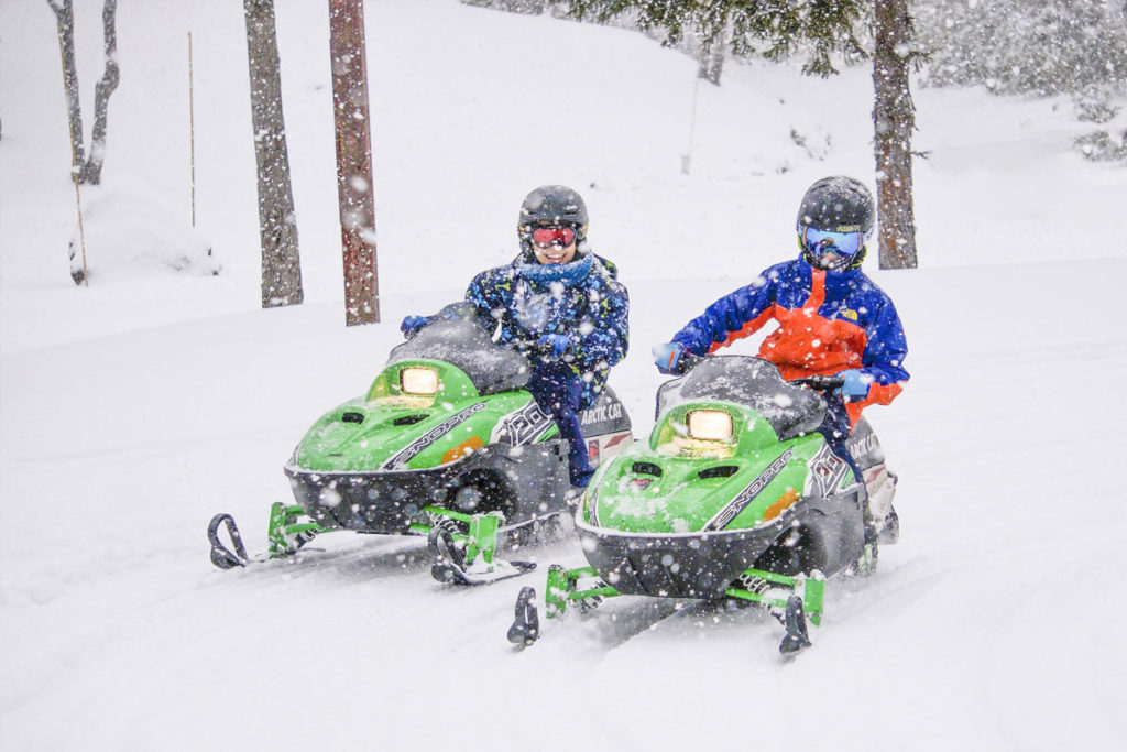 Kids' snowmobiling, Niseko United